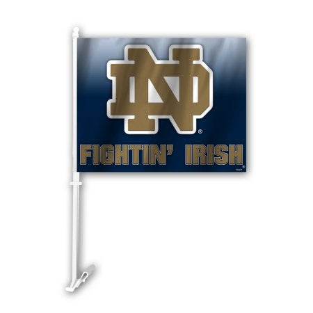 NCAA Notre Dame Fighting Irish Ombre Car Flag
