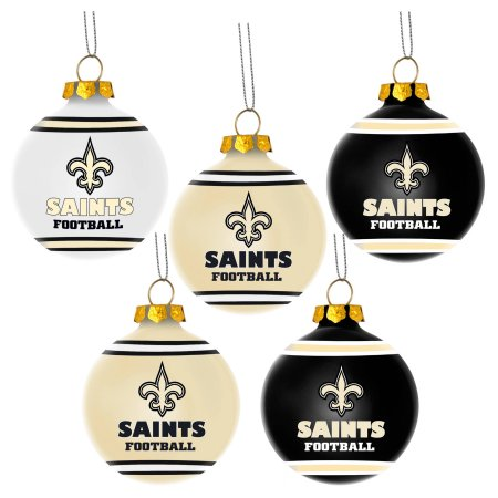 Forever Collectibles NFL 5-Pack Shatterproof Ball Ornaments - New Orleans Saints