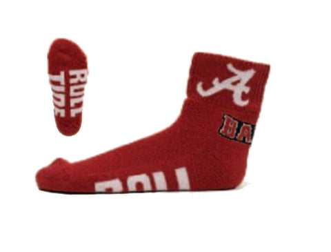 NCAA Alabama Crimson Tide Red Quarter Socks