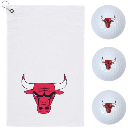Chicago Bulls WinCraft 3 Golf Balls and Sports Towel Gift Set - No Size