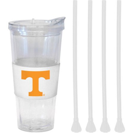 NCAA Tennessee Volunteers 22 oz Straw Tumbler with 4 Colored Replacement Propeller 22 oz Straws