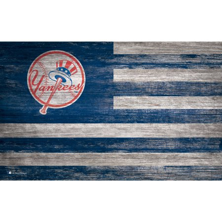 MLB New York Yankees 11'' x 19'' Distressed Flag Sign