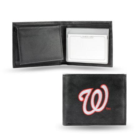MLB Men's Washington Nationals Embroidered Billfold Wallet