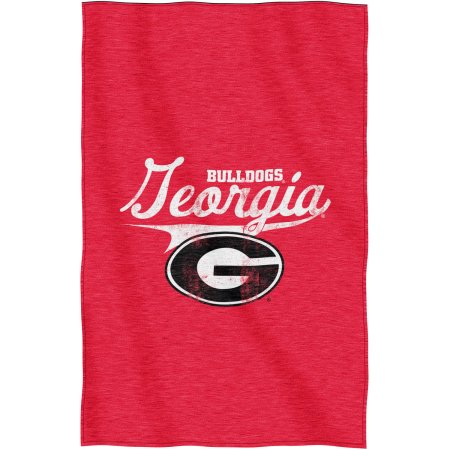 "NCAA Georgia Bulldogs ""Script"" 54"" x 84"" Sweatshirt Throw"