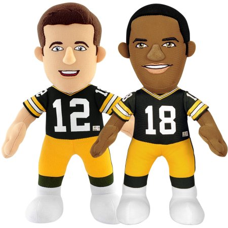 "Bleacher Creatures Dynamic Duo 10"" Plush Figures, Packers Rodgers and Cobb"
