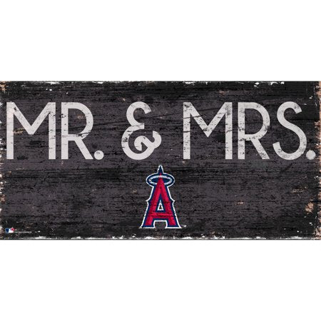 MLB Los Angeles Angels 6'' x 12'' Mr. & Mrs. Wedding Sign