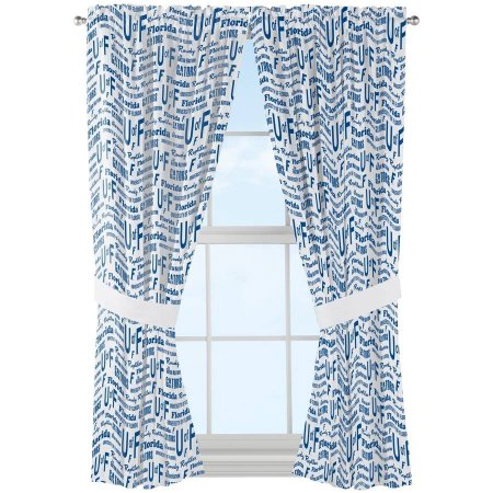 "NCAA Florida Gators ""Anthem"" Window Curtain Panels - Set of 2 - 36"" x 48"""