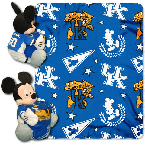 "Disney NCAA Kentucky Wildcats Hugger Pillow and 40"" x 50"" Throw Set"