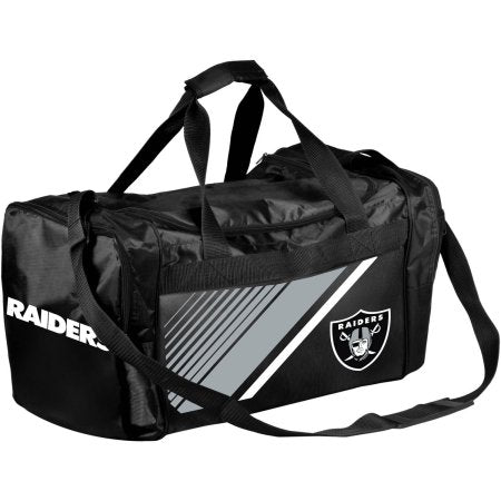 NFL Oakland Raiders Border Stripe Duffle Bag