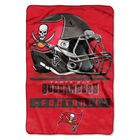 "NFL Tampa Bay Buccaneers ""Sideline"" Oversized Micro Raschel Throw Blanket, 62"" x 90"""