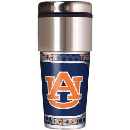 NCAA Auburn Tigers 16 oz Travel Tumbler with Metallic Wrap