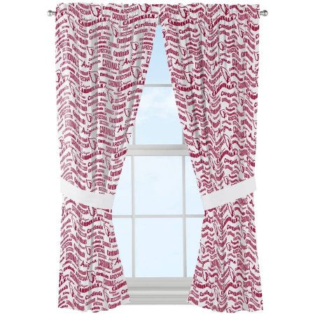 "NFL Arizona Cardinals ""Anthem"" Window Curtain Panels - Set of 2 - 36"" x 48"""