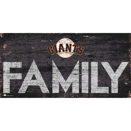 MLB San Francisco Giants 6'' x 12'' Distressed Wood Family Sign
