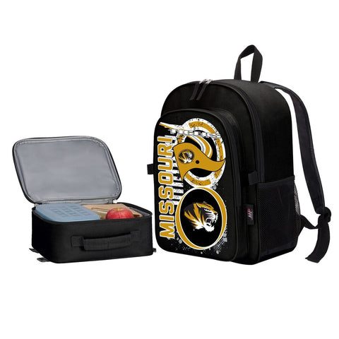 "Missouri Tigers ""Accelerator"" Backpack and Lunch Bag / Box Set"