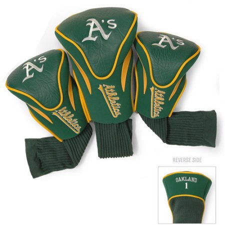 MLB Oakland Athletics 3 Pack Contour Head Covers