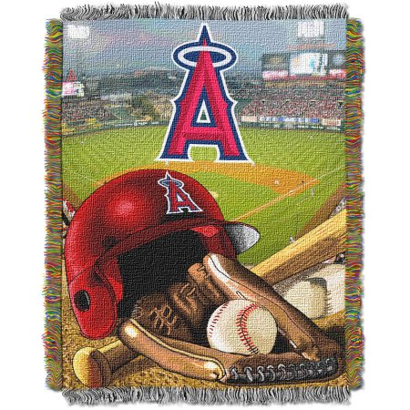 "MLB 48"" x 60"" Home Field Advantage Series Tapestry Throw, Angels"
