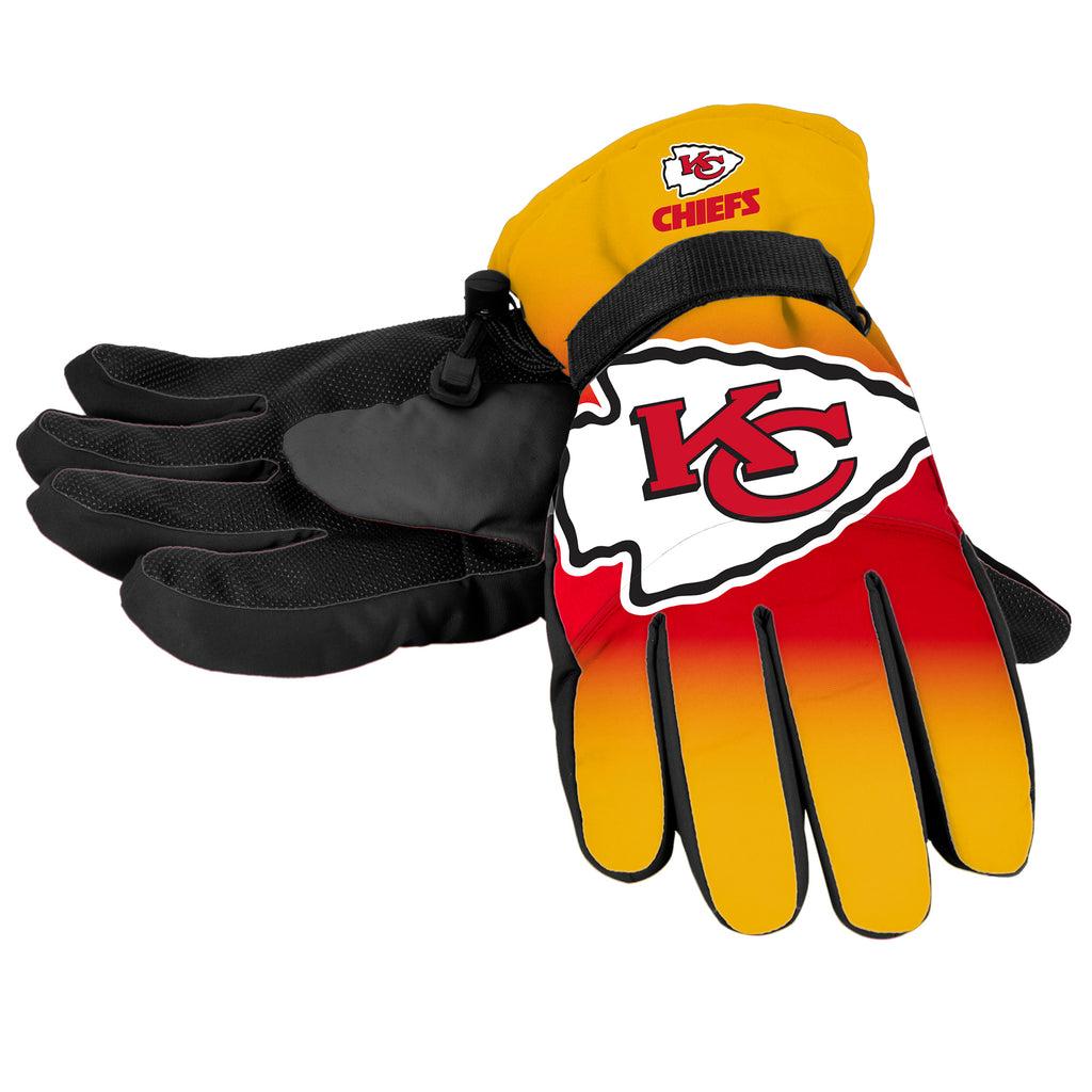 NFL Kansas City Chiefs Gradient Big Logo Insulated Gloves Small/Medium