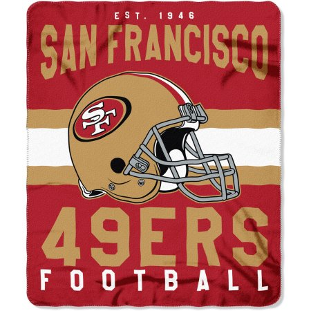 "NFL San Francisco 49ers ""Singular"" 50"" x 60"" Fleece Throw"