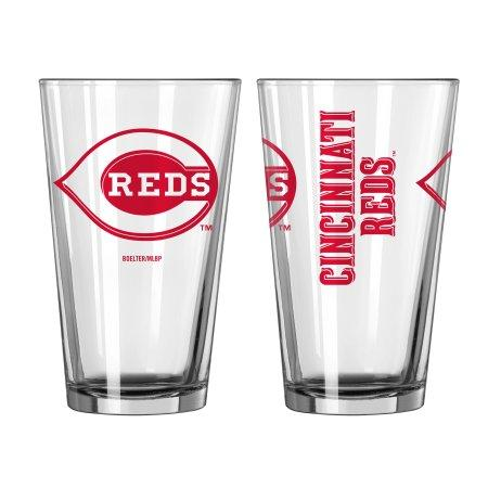 Boelter Brands MLB Cincinnati Reds Set of Two 16 Ounce Game Day Pint Glasses