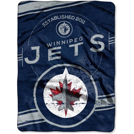 "NHL Winnipeg Jets ""Stamp"" 60"" x 80"" Raschel Throw"