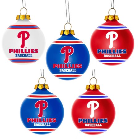 Forever Collectibles MLB 5-Pack Shatterproof Ball Ornaments - Philadelphia Phillies