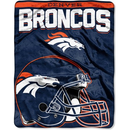 "NFL Denver Broncos ""Drawback"" 55"" x 70"" Silk Touch Throw"