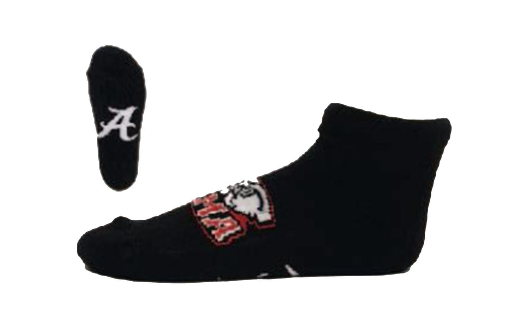 NCAA Alabama Crimson Tide Black No-Show Footie Socks