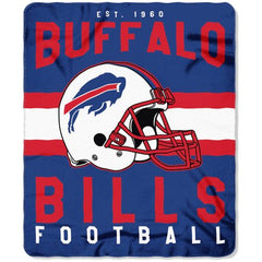 "NFL Buffalo Bills ""Singular"" 50"" x 60"" Fleece Throw Blanket"
