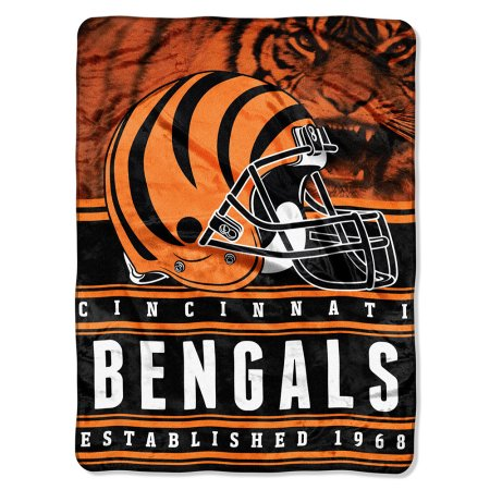 "NFL Cincinnati Bengals ""Stacked"" 60"" x 80"" Silk Touch Throw"
