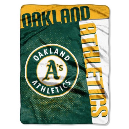 "MLB Oakland Athletics ""Strike"" 60"" x 80"" Raschel Throw"