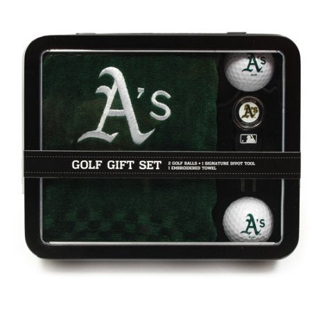 MLB Oakland Athletics Embroidered Golf Towel, 2 Golf Balls, And Divot Tool Set