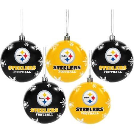 Forever Collectibles NFL 5-Pack Shatterproof Ball Ornaments - Pittsburgh Steelers