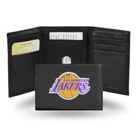 NBA Men's Los Angeles Lakers Embroidered Trifold Wallet
