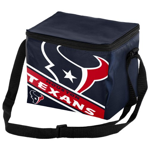 NFL Houston Texans Big Logo 6 Pack Cooler Lunch Box / Bag