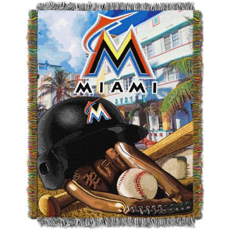 "MLB 48"" x 60"" Home Field Advantage Series Tapestry Throw, Marlins"