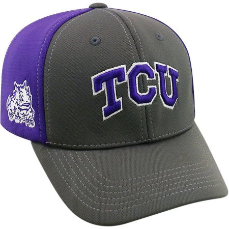 NCAA University of Texas Christian Horned Frogs Grey Two Tone Baseball Hat \ Cap