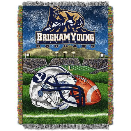 "NCAA 48"" x 60"" Tapestry Throw Home Field Advantage Series- BYU"