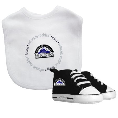 MLB Colorado Rockies Bib & Prewalker Baby Gift Set