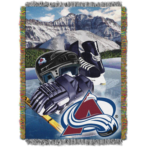 "NHL 48"" x 60"" Home Ice Advantage Series Tapestry Throw, Avalanche"