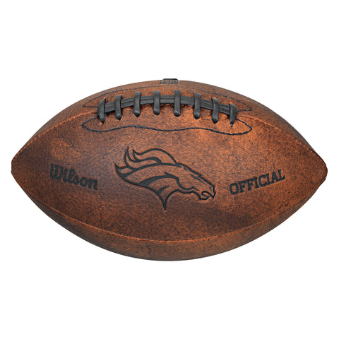 "Wilson NFL Denver Broncos 9"" Throwback Football"