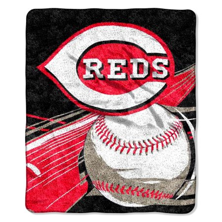 "MLB Cincinnati Reds ""Big Stick"" 50"" x 60"" Sherpa Throw"