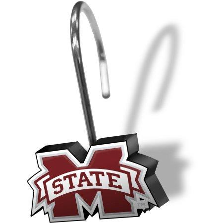 NCAA Mississippi State Bulldogs 12-Piece Shower Curtain Ring Set