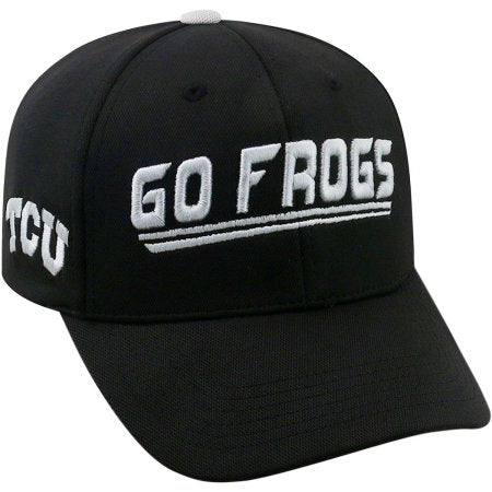 NCAA University of Texas Christian Horned Frogs Black Baseball Hat \ Cap
