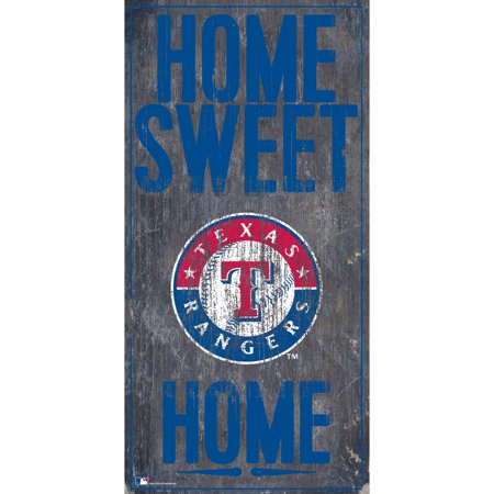 MLB Texas Rangers 6'' x 12'' Home Sweet Home Sign