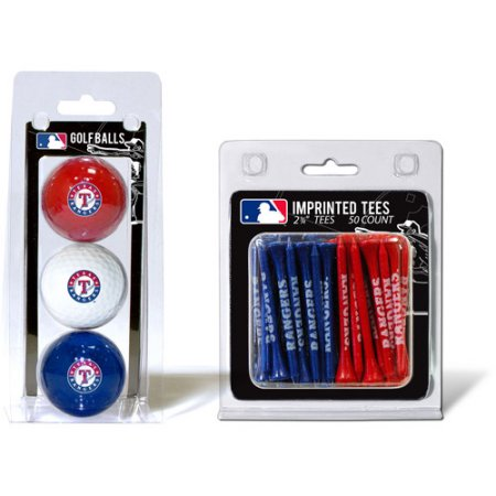 Team Golf MLB Texas Rangers 3 Golf Balls And 50 Golf Tees