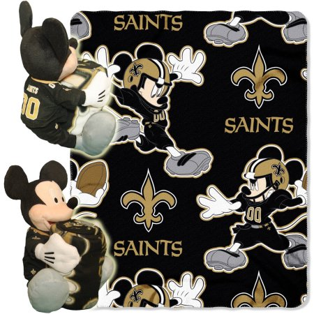 "Disney NFL New Orleans Saints Hugger Pillow and 40"" x 50"" Throw Set"