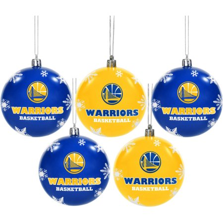 Forever Collectibles NBA 5 Pack Shatterproof Ball Ornaments - Golden State Warriors
