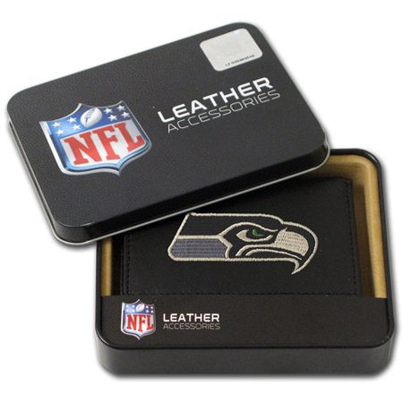 NFL Men's Seattle Seahawks Embroidered Trifold Wallet