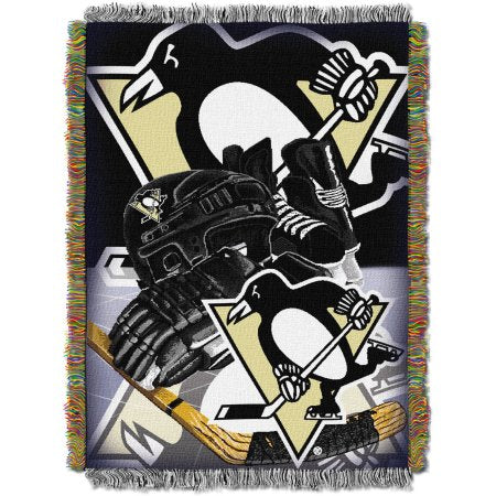 "NHL 48"" x 60"" Home Ice Advantage Series Tapestry Throw, Penguins"