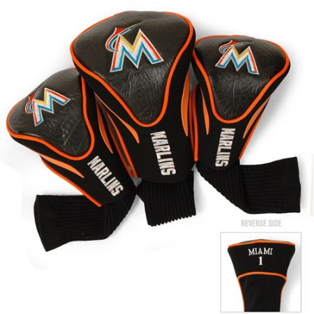 MLB Miami Marlins 3 Pack Contour Head Covers